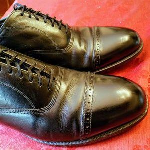 Florsheim Black Oxford Cap toe Dress Shoes 8.5 3E